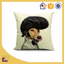 Low Price Decorate Animal Dog Printed Pillows Cases /Pillow Factory In China