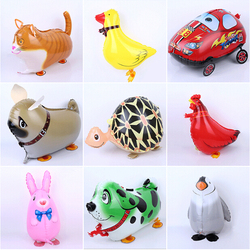 pet walking balloon,animal walking balloon,foil helium walking balloon