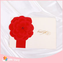 3d Handmade Glitter Greeting Invitation Card For 2015chinese New Year