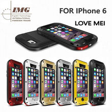 Alibaba express 100% original Love Mei Powerful Mobile phone case for iphone 6 , for iphone 6 case with retail package 6 colors