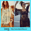 2015 latest design one piece or two pieces sexy woman embroidery summer lace shawl, beach dress,lace Crochet dress,