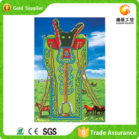 Fashion design manufacturer supply for gift saddle painting 3d round diamond embroidery