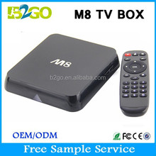 High quality AMLogic S802 tv box Android 4.4 M8 google android tv box isdb-t