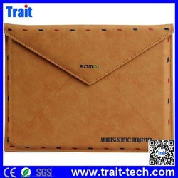 Retro Envelope Shaped Magnetic Pouch Bag PU Leather Case for iPad 4 /1 /2 /3/iPad Air Air 2