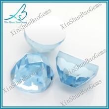Popular colored jewelry decorative loose aquamarine glass stone