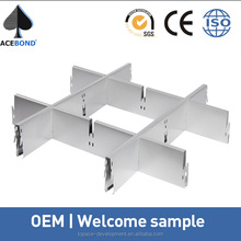 Hot selling grid ceiling designs product with aluminum alloy material