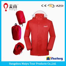 high quality red pvc raincoat rain jacket for women