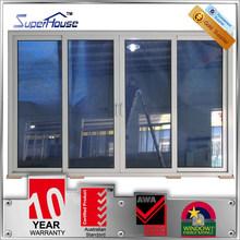 Australia standard double glass lowes sliding screen door with ten years warranty