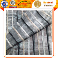 China Manufacturer Organza Fabric Striped Design Sheer Voile Fabric