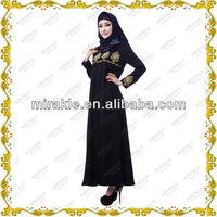MF21317 trend busana muslim Jet black abaya modern.
