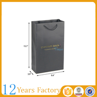 Red wine packing paper carrier bag printing