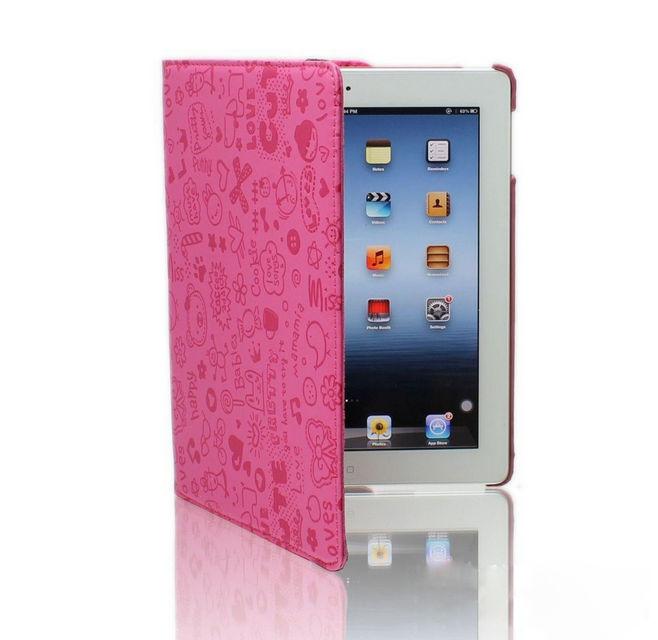 2014 Hot selling Mini Small Girl series PU 360 for ipad case rotating