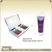 NT-43 Nail Art Acrylic Gel Paint Painting Tube Pigment Set Acrylic paints12colors