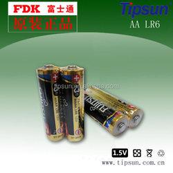 Mercury Free 1.5V Alkaline Battery LR6 Size AA /Long Shelf Life Dry Cell