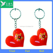 3D PVC Keychain 2 Side, Soft PVC Keychain, Colorful Rubber Keyring