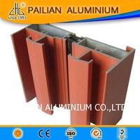 Wow!wood grain aluminium window section,6063 6061 T5 weight of aluminium window sections,factory aluminium door window supplier