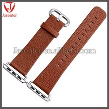 Genuine Leather Strap Wrist Band Replacement w/ Metal Clasp for Apple Watch All Models 42mm