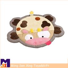 Lovely cute animal shape plush baby animal mat for baby