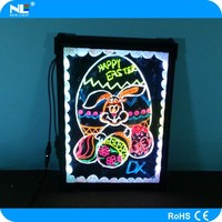 Hot sale flexible led display for wine bar, shop, KTV, restaurant promotion message board led writing board 60*80cm