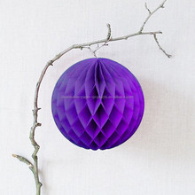 Tissue Paper Hanging Decorations PURPLE HONEYCOMB BALL Tissue Paper Ball Lantern Decor Wedding Party Birthday
