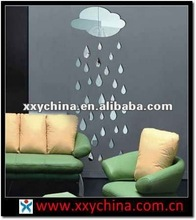 raindrop wall mirror sticker for decoration