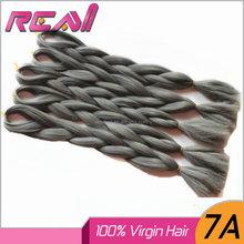 Wholesale Heat Resistant Synthetic Fiber X-Pression Ultra Braid Synthetic Hair Jumbo Braid Hair Silver Grey Hair Braid