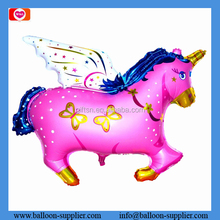 Wholesale giant helium balloon pink horse with angel wings custom printed balloons as gift toy