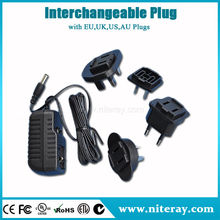 All in one 13v dc power adapter with UA EU UK AU plugs