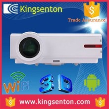 """Manufacturer 1280*800 LCD 5.8"""" hdmi usb wifi android 4.2 4500 lumens professional cinema projector"""