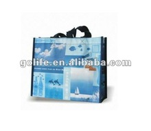 2012 recycled recycled woven polypropylene shopping bags,printed pp woven bags,Chinese pp woven shopping bags