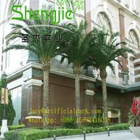 SJLJ0542 manufacture in Guangzhou Shengjie artificial bonsai/large plastic palm tree