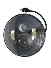 2015 Halo round 7inch led headlight ,jeep wrangler 45w 7inch LED head light with DRL