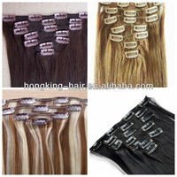 Human Hair Remy Double Weft Clip In Extensions 100g Various Colour