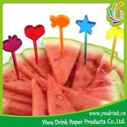 Cute Small Forks For Cake/Fruit Dessert, Food Grade Plastic Fruit Fork, Party Supply