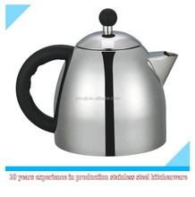 2015 new style double layer stainless steel tea pot with PP handle
