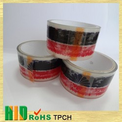 Wholesale Best Selling China red&white color printed bopp packing tape