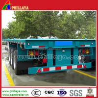 Phillaya Factory 3 Axles 40ft Flatbed Platform Container Semi Trailer link with truck head Prime mover for sale