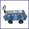 Four wheels GardenTowable metal mesh garden cart