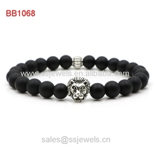 Fashion antique silver lion head bracelets jewelry making factory new products 2015