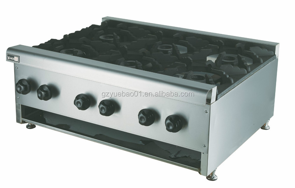 Countertop Gas Stove Price : Steel Commercial Counter Top Gas Stove For Sale With Low Price ...