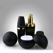 Black Cosmetic Package Round Plastic Ball Container