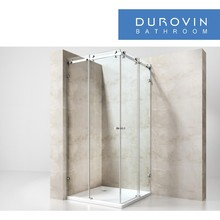 tempered security glass simple sliding shower enclosure