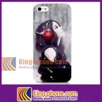 for iphone5 paint Cute girl bling diamond case, for iphone5 mobile phone cover case, for iphone5 diamond phone case