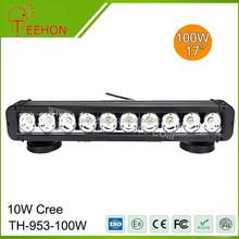 100 Watt 17 Inch Single-Row LED off-Road Light Bar for Bulldozer, Trailer and Trucks