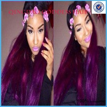 "26"" Violet Ombre Human Hair Wigs,malaysian hair lace front wigs rosa hair products ally express best demand"