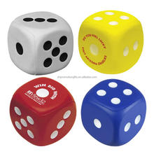 Hot Sale dice shape pu foam ball