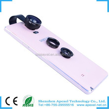 3 in 1 Clip-On Fish Eye Lens+Wide Angle+Macro Lens 1 Set New 180 degree for cell phone camera and all phone