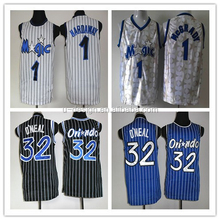 #1 Tracy Mcgrady Jersey Throwback White Black Stripe Blue All Star Stitched Best American Basketball Jersey Sale