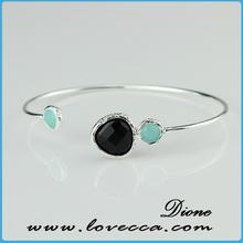 Good agare druzy bracelet /white turquoise druzy stone arm bracelet cuff