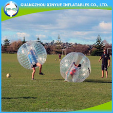 2015 hot sale PVC human sized bumper ball/soccer bubble